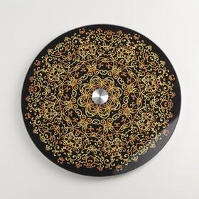 Подставка для торта вращающаяся «Золото», d=28 см