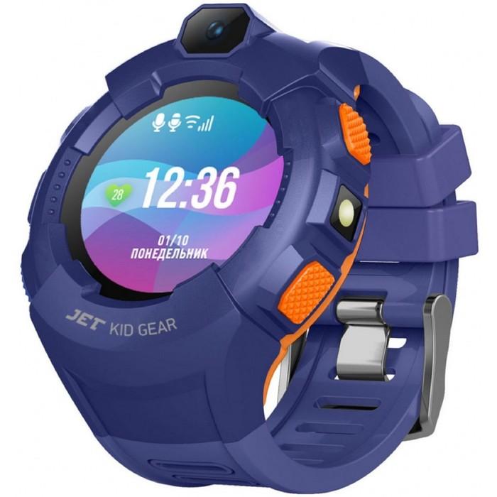 "Смарт-часы Jet Kid Gear, 50мм, 1.44"", оранжевый"