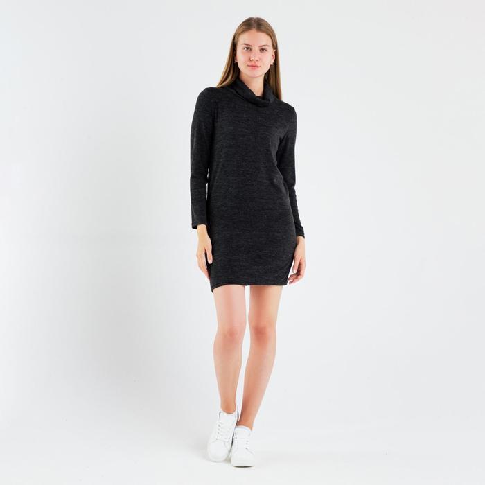 Платье женское «Ангора», цвет тёмно-серый, размер 42