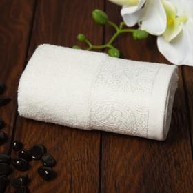 Полотенце махровое Бодринг 30х60 см, белый крем, хлопок 100%, 430гр/м2
