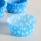 Tartlet, blue with snowflakes, 5 x 3 cm