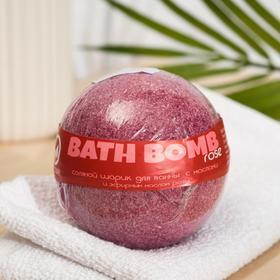 """Бурлящий шар для ванны Savonry """"Высший свет"""" (роза) с увлажняющими маслами, 160 г"""