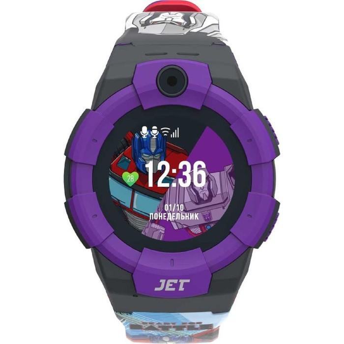 "Смарт-часы Jet Kid Megatron vs Optimus Prime, 45мм, 1.44"", черно-фиолетовый"