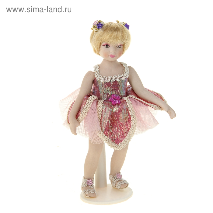 """Кукла коллекционная """"Верочка в маленьком розовом платьице"""""""