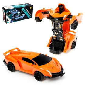 Робот инерционный «Автобот», трансформируется при столкновении, цвета МИКС