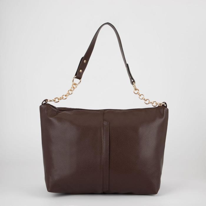 Сумка женская, отдел на молнии, наружный карман, цвет коричневый - фото 798373602