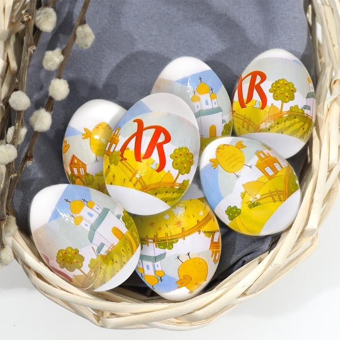 Пасхальная термоплёнка «Радостные цыплята», на 7 яиц