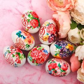 Пасхальная термоплёнка «Цветы», на 7 яиц