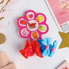 "Set of hair ""Carousel"" (6 crabs, 4 erasers) bows hearts"