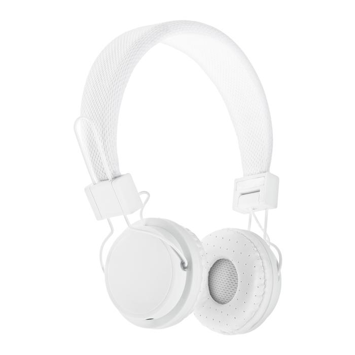 Наушники LuazON, микрофон, накладные, складные, матовые, белые - фото 725708743