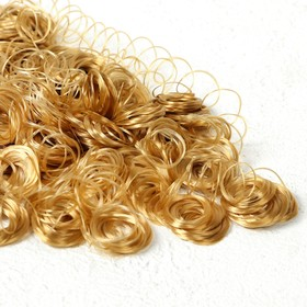 """Hair for dolls """"Curly"""" 70 gr. the size of the curl 1 cm, color D7104"""