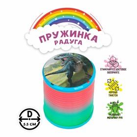 Пружинка-радуга «Динозавр», цвета МИКС в Донецке
