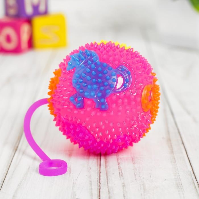 Мяч световой «Единорог», с пищалкой, цвета МИКС