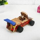 Игрушка из дерева «Гоночный автомобиль» с моторчиком 9.4×18×7.5 см - фото 105650228