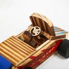 Игушка из дерева «Гоночный автомобиль» с моторчиком 9.4×18×7.5 см - фото 105650229