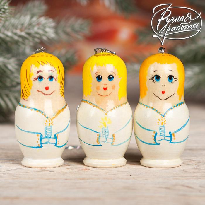 Ёлочная игрушка «Ангел», МИКС