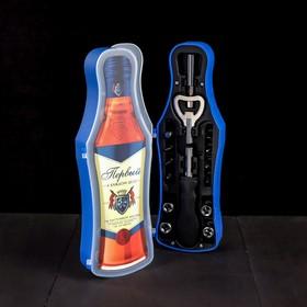 """Набор инструментов в бутылке """"Первый"""", подарочная упаковка"""