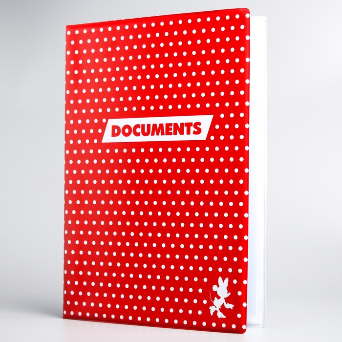 Папка для документов, Минни Маус, 12 файлов, 4 комплекта