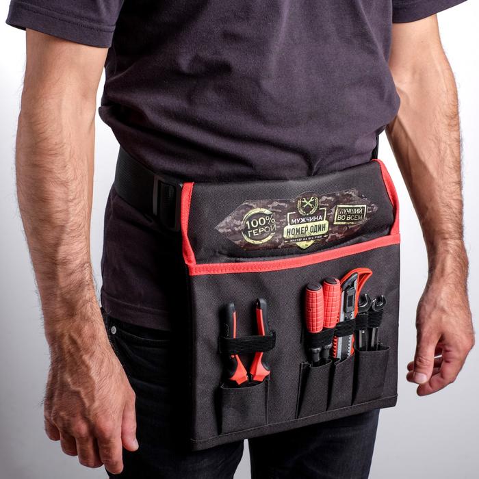 """Набор инструментов в сумке """"Мужчина номер один"""", подарочная упаковка, 6 предметов"""