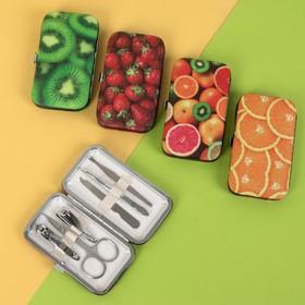 Set manicure 6pr 1-1-1-4 10.8 * 6.8 * 2cm Fruit MIX package