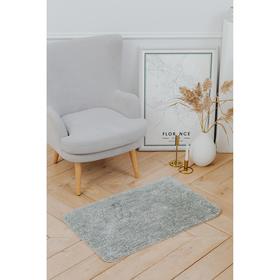 Коврик «Нина», 50×80 см, ворс короткий, цвет серый