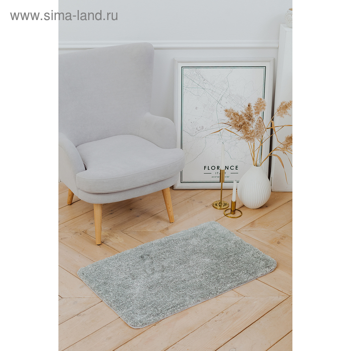 Bathmat Nina 50 × 80 cm, short pile, color gray