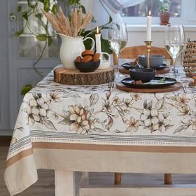 """Скатерть """"Этель"""" Floral mood 180х147 см, 100 % хлопок, репс 210 гр/м2"""