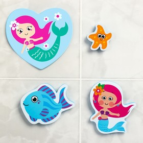 "A set of EVA toy for bath 3pcs + mini Mat ""the little Mermaid"""