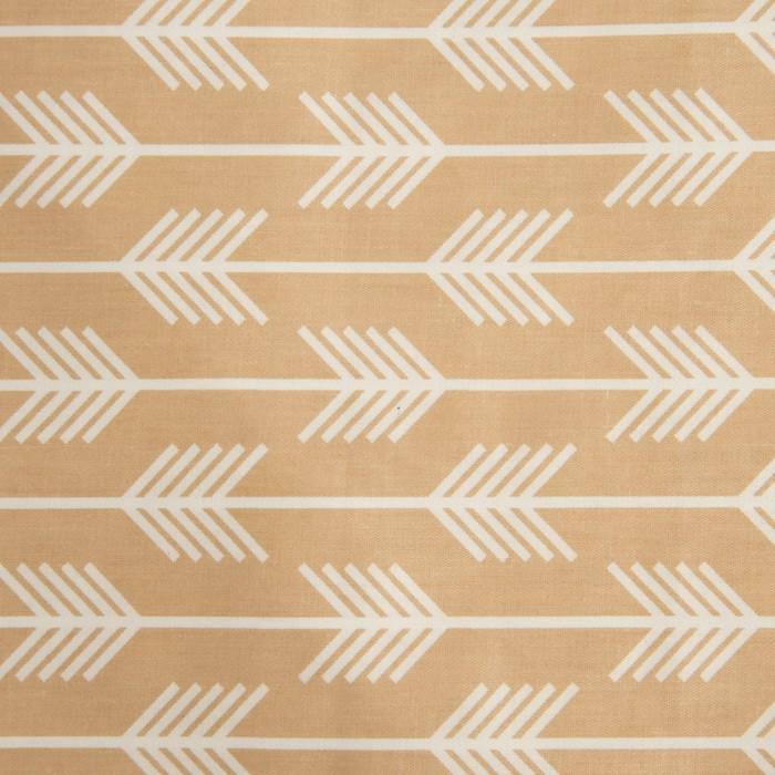 Ткань набивная «Полоски» 2 м, цвет коричневый, ширина 160 (± 5 см), сатин, 100% хлопок