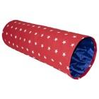"""Туннель """"Звездочка"""" для кошек, с красным элементом, 65 х 22 см"""
