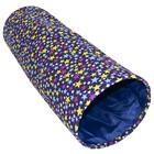"""Туннель-MAX """"Звездочки"""" для кошек, с фиолетовым элементом, 115 х 30 см"""