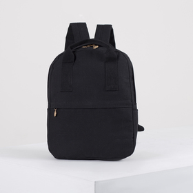 Рюкзак-сумка, отдел на молнии, 2 наружных кармана, цвет чёрный