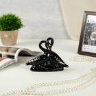 "Souvenir ceramic ""Swan love"" black with gold 11х14х5 cm"