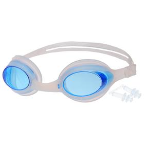 Очки для плавания взрослые с берушами, цвета МИКС Ош
