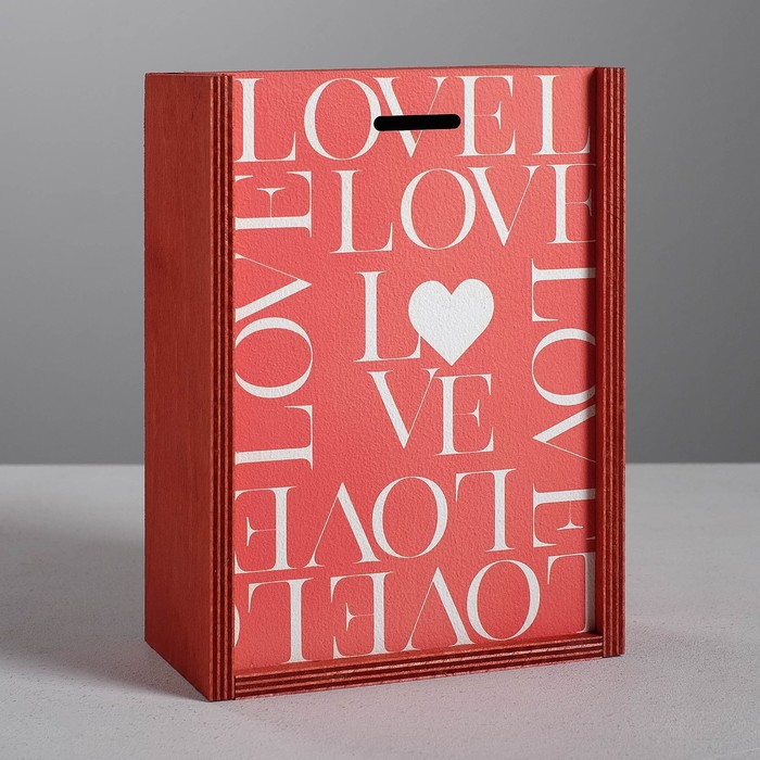 Ящик подарочный деревянный «Любовь», 20 × 14 × 8 см - фото 727350897