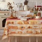 """Скатерть """"Этель"""" Bakery house 180х147 см, 100% хлопок, репс 210 г/м2"""