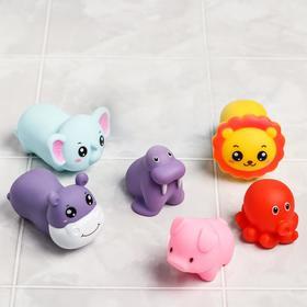 Набор для купания «Леечка + 6  игрушки», пищалки