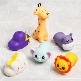 Набор резиновых игрушек для игры в ванной «6 игрушек», пищалки