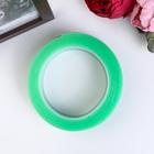"""Клейкая лента силикон клеится на обе стороны """"Зелёный"""" ширина 3 см, намотка 2 метра"""