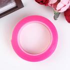 """Клейкая лента силикон клеится на обе стороны """"Розовый"""" ширина 3 см, намотка 2 метра"""