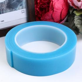 """Клейкая лента силикон клеится на обе стороны """"Синий"""" ширина 3 см, намотка 2 метра"""