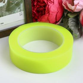"""Клейкая лента силикон клеится на обе стороны """"Жёлтый"""" ширина 3 см, намотка 2 метра"""