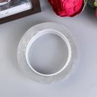 """Клейкая лента силикон клеится на обе стороны """"Прозрачный"""" ширина 3 см, намотка 2 метра"""