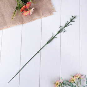 Stem for artificial flower to single flower with leaves 52.5 cm