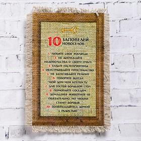 """Souvenir magnet-a roll of """"10 commandments Novoselov"""""""