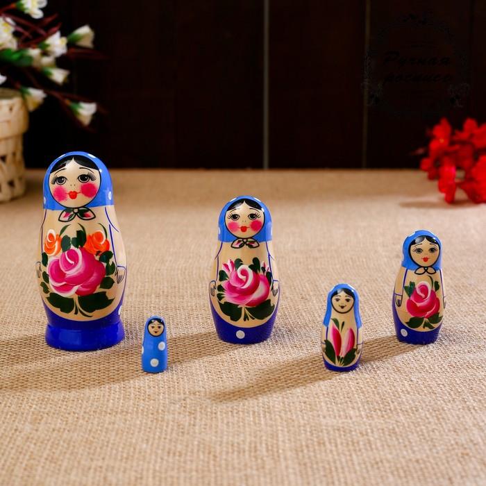 """Матрёшка """"Семёновская"""", 5 кукольная, высшая категория - фото 726570164"""