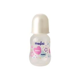 Бутылочка для кормления Mepsi, с силиконовой соской, от 0 месяцев, цвет белый