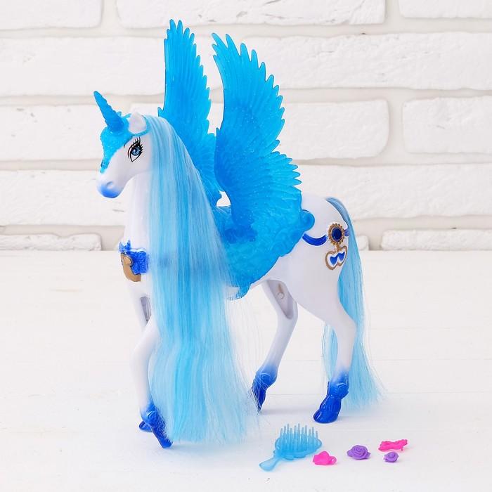 Лошадь для кукол «Единорожка»