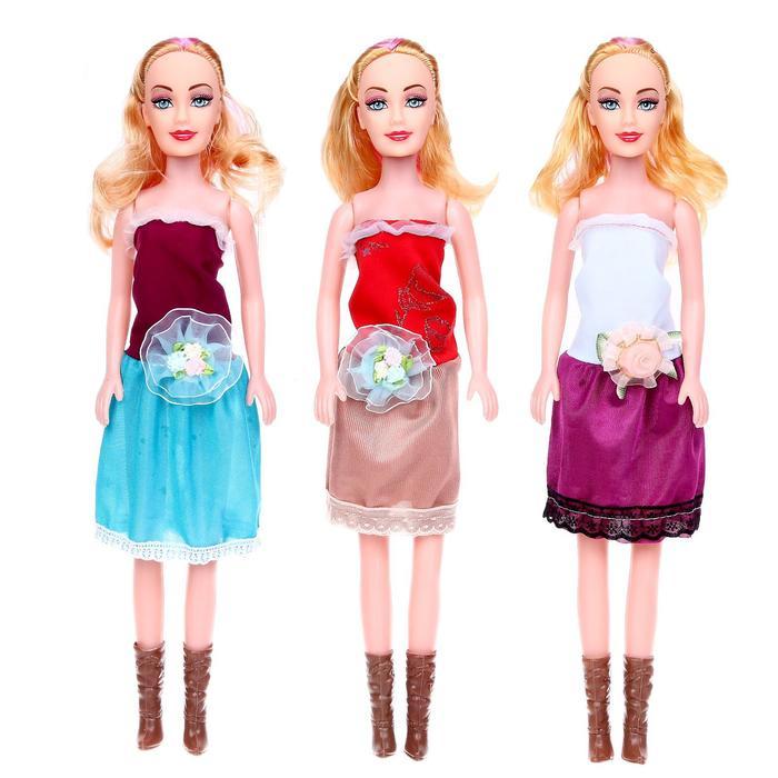Кукла «Даша» в платье, МИКС