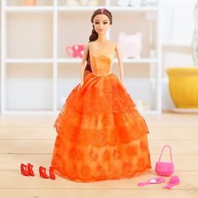 Кукла-модель «Лида» в платье, с аксессуарами, МИКС